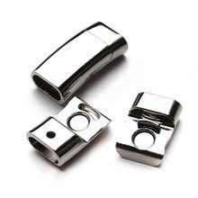 LOULEUR 5 teile/los Rhodium Überzogene Starke Magnetische Verschluss Rechteck für Flache Leder Schnur Armband Schmuck DIY Erkenntnisse