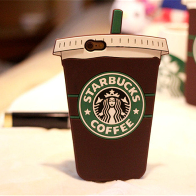 cute starbucks cup cartoon silicone case cover for apple iphone 5 5s