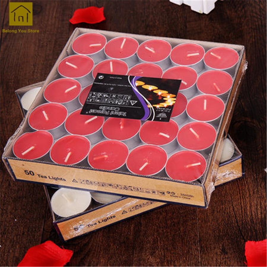 Romantic Tealight Candle Mariage Bougies Et Chandelles Velas Candle Wedding Decorative Candles Set Bougies Tea Light JKK087