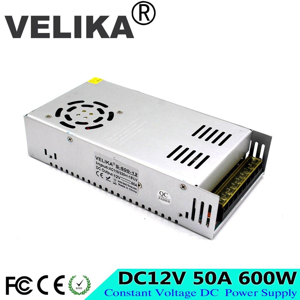 DC Power Supply 12V 50A 600w Led Driver Transformers AC110V 220V to dc12V SMPS Power Adapter