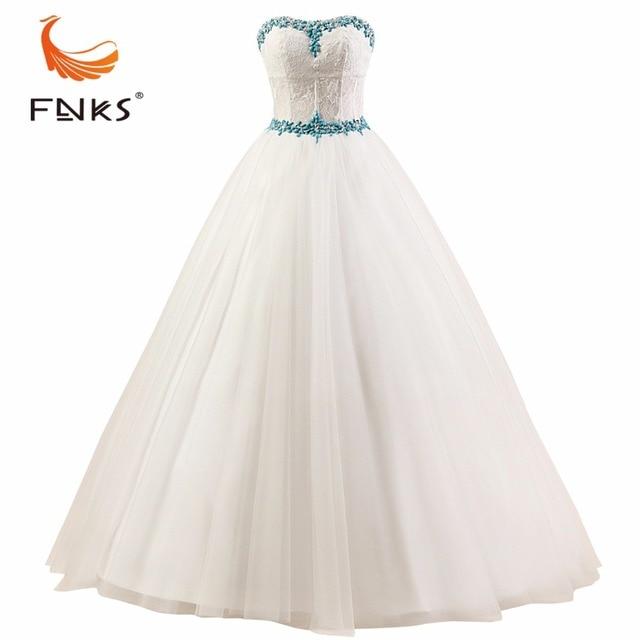 FNKS Vestidos De Novia 2016 Custom Made Vintage Wedding Dress White ...