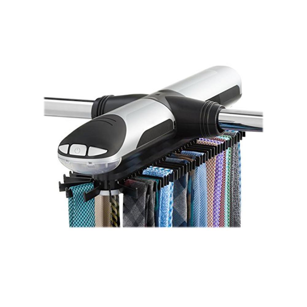 Automatic Tie Rack Electric  Revolving Tie Racks Tie Hook Scarf Hanger Rack Organizer Belt Rack