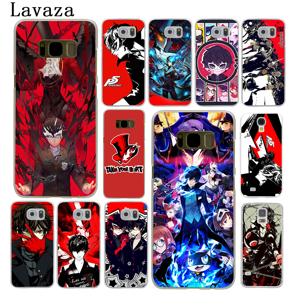 Lavaza p5 P Persona 5 Hard Phone Shell Case for Samsung Galaxy S9 S6 S7 Edge S8 Plus S3 S4 S5 Mini S2 Cover