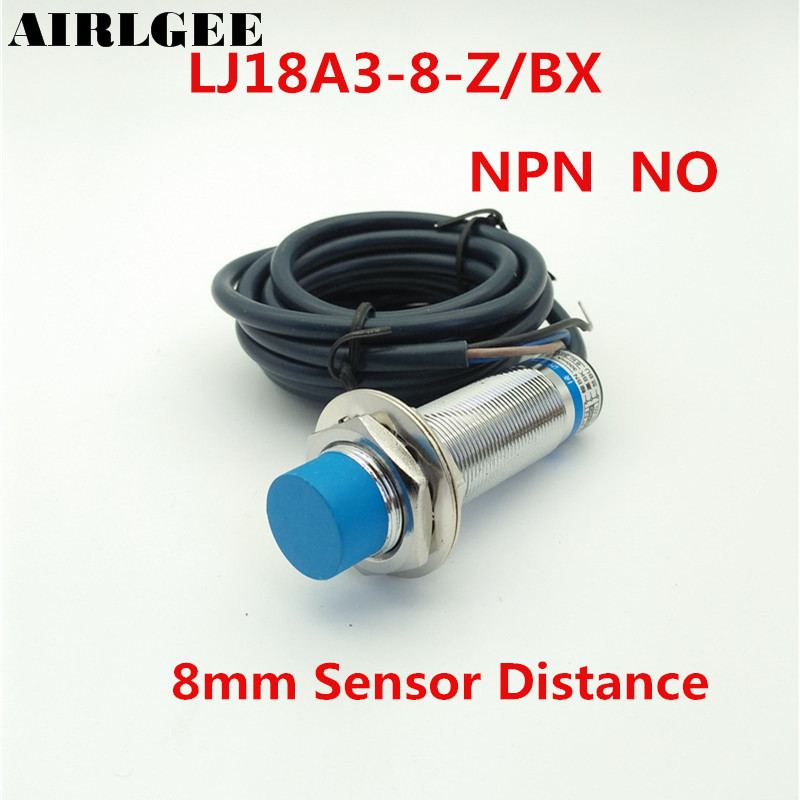 LJ18A3-8-Z/BX NPN NO 8mm Detect Distance Approach Inductive Proximity Sensor Switch DC 6-36V high quality lj18a3 8 z bx 8mm approach sensor inductive proximity npn no switch dc 6 36v