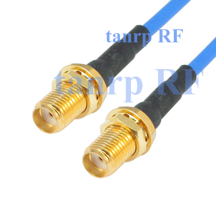 15CM coaxial Sexi Flexible blue jacket jumper extension cable RG405 6in SMA female jack to SMA female RF 3G 4G router WIFI