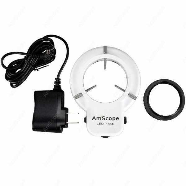 Microscope à socle articulé-AmScope fournit 3.5X-90X Microscope à Zoom articulé avec plaque de Base + anneau lumineux
