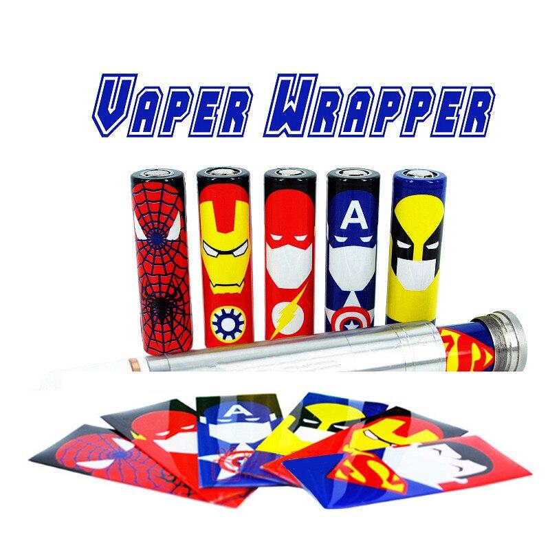 5 шт. ПВХ Батарея Защитные чехлы для 18650 Батарея Стикеры защищены <font><b>Wrapper</b></font> аксессуары для электронных сигарет Батарея кожи