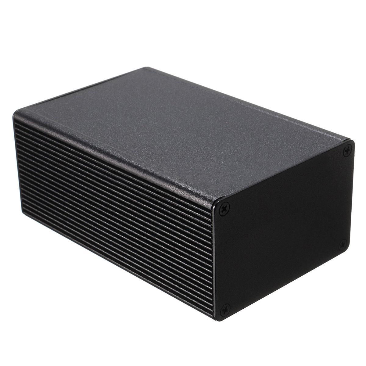 1pc Light Weigth  PCB Electronic Instrument Case Aluminum Alloy Enclosure Box 100x66x43mm Black 1pc electronic project instrument box black aluminum enclosure case 100x66x43mm mayitr with corrosion resistance
