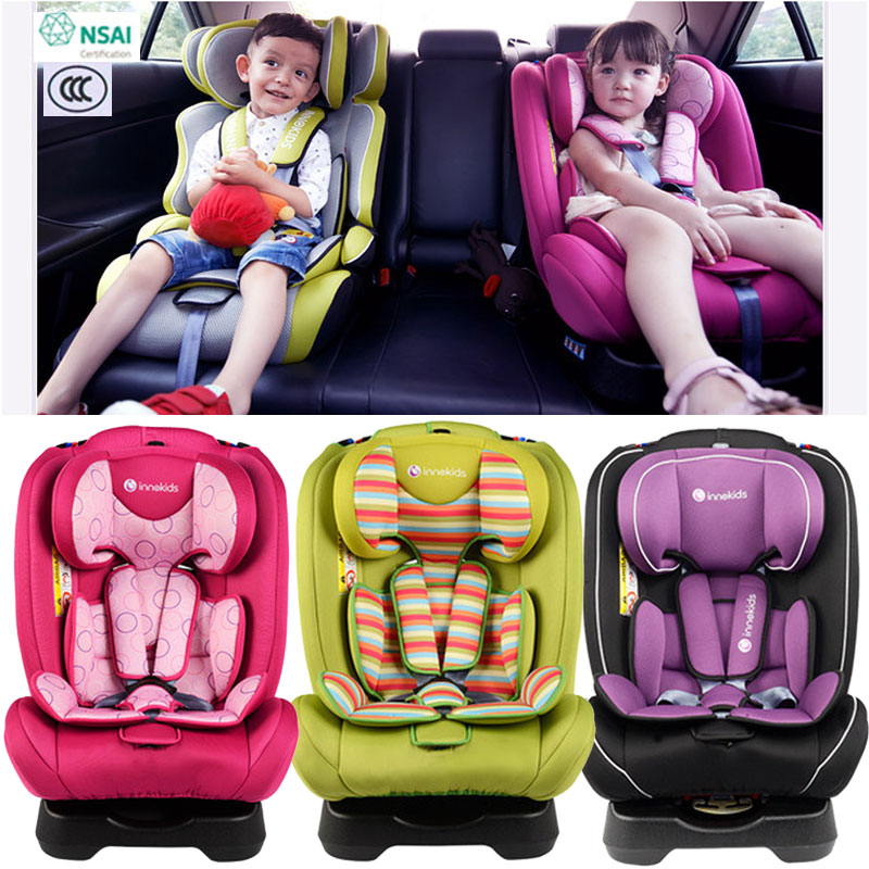 Innokids Child Car Safety Seat Booster Chair Newborn Baby Safe Car Seat Adjustable Height Sitting and Lying Five Point Harness new professional safety rock tree climbing rappelling harness seat sitting bust belt safety harness