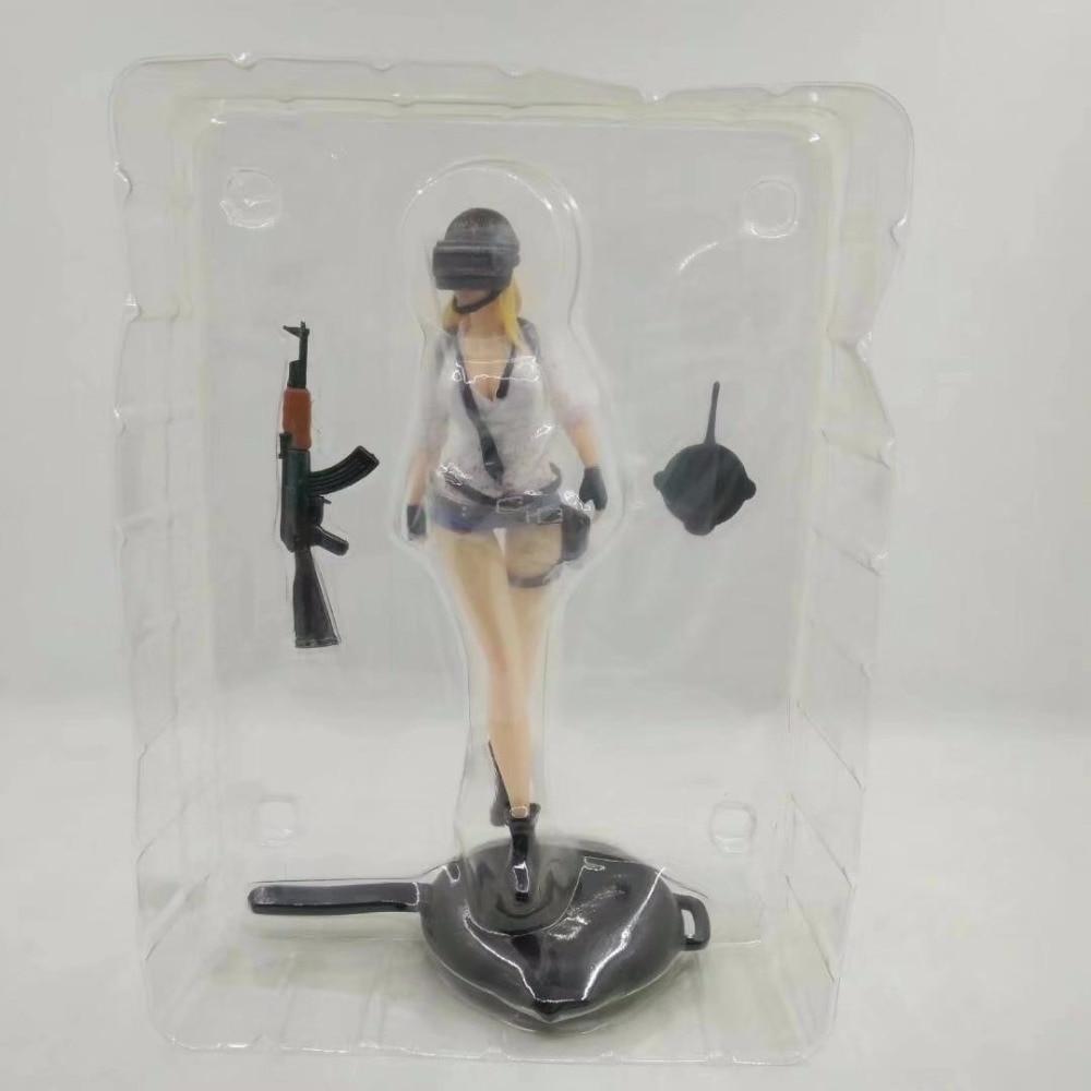 Game PUBG Playerunknown's Battlegrounds Girl Winner Eat Chicken Dinner PVC Action Figure Gifts no retail box (Chinese Version) 5
