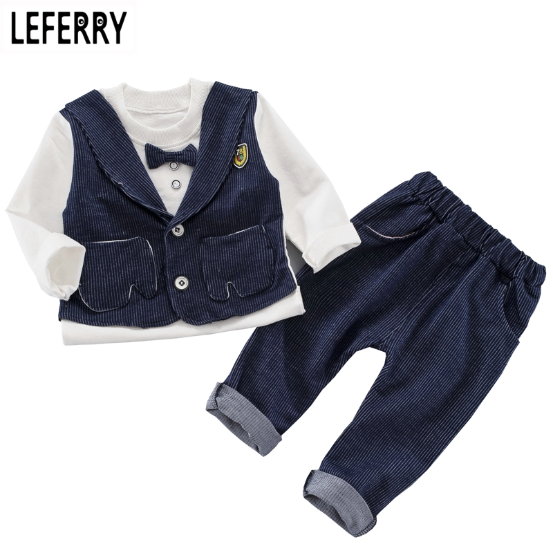 2018 Fashion Baby Boy Clothes Sets Gentleman Suit Toddler Boys Clothing Set Long Sleeve Kids Boy Clothing Set Birthday Outfits anlencool new spring 2017 brand kids suit boys sport sun dress baby clothing boy s clothing set baby boy clothes sets