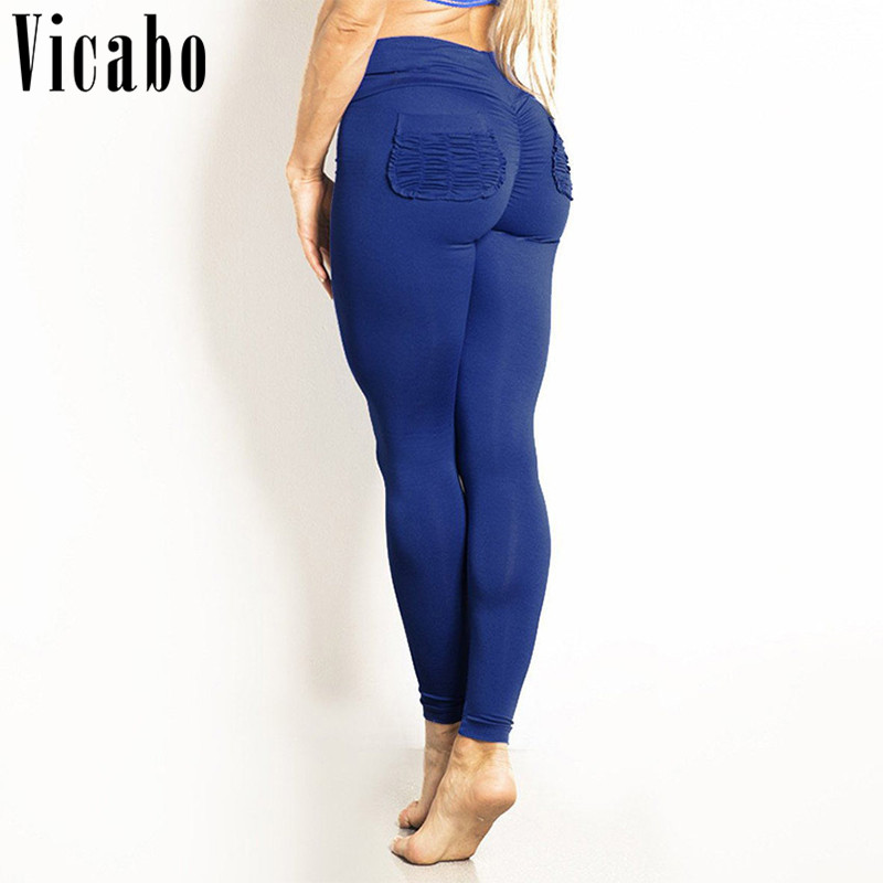 Vicabo Activewear Push Up Leggings Pants Workout Plus Size Leggings Trousers Skinny High Waisted Leggings Fitness