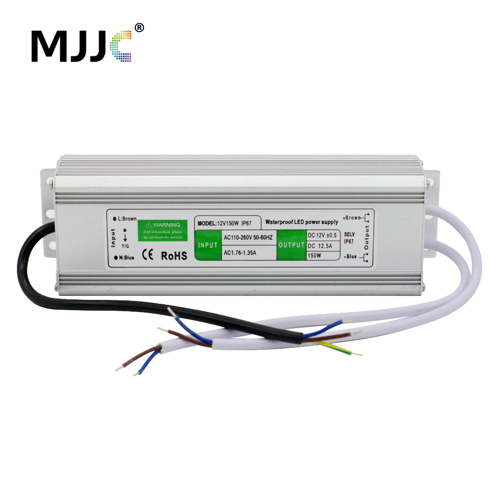 12V 24V LED Power Supply Unit Driver Electronic Transformer AC 110V 220V to 12 24 Volt 10W 30W 36W 60W 100W 150W Waterproof IP67 image