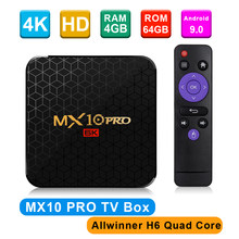 MX10 PRO Caixa de TV Android 9.0 GB RAM 32 4 GB/H6 64 GB ROM 2.4G WiFi Allwinner UHD 4 K Inteligente Media Player USB3.0 H.265 VP9 Set Top Box(China)