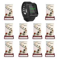 SINGCALL drahtlose restaurant aufruf system  beeper pager 1 handy uhr empfänger plus 10 rot tabelle pager