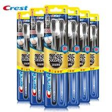 Nanometer Toothbrush Crest Soft Bristles Deep Clean Antibacterial Gum Care Dark Tea toothbrush 2 6 pcs