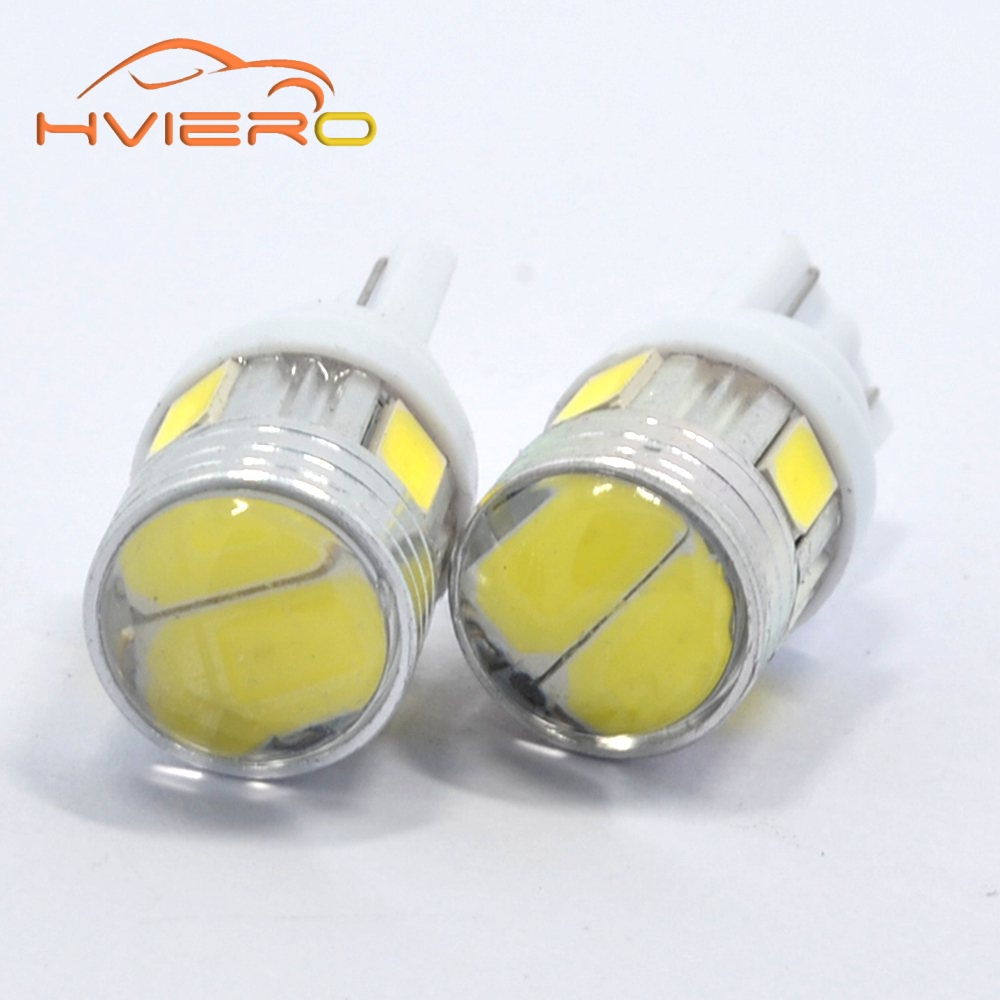 цены  2Pcs T10 W5W Interior Xenon White Blue Red 6SMD 5630 Lens Projector Solid Aluminum Bulbs Side Marker Lamp Tail Light Stop Light