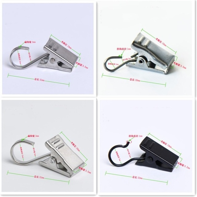 Wholesale Home Curtain Accessories Metal Clips For Drape Shower Strong Catches Curtains High