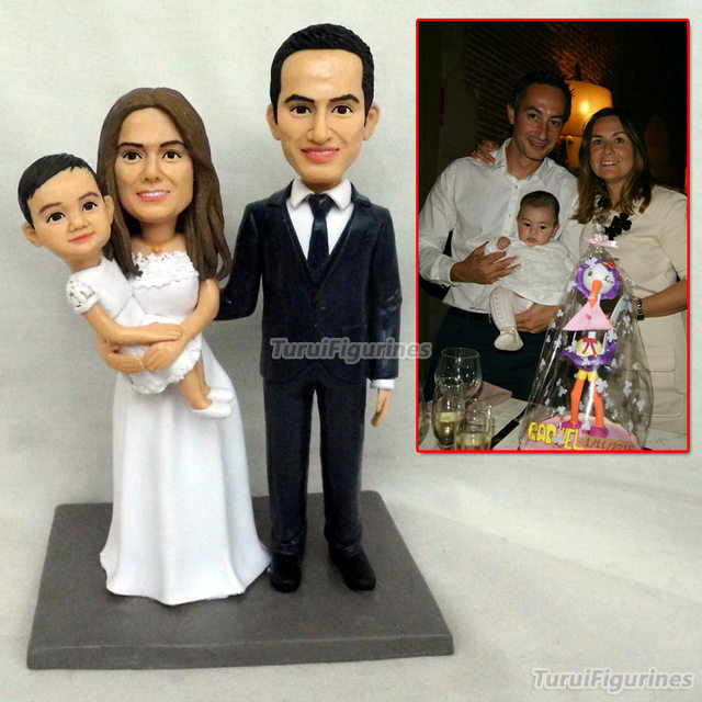 OOAK Polymer Clay Doll Baby Birthday Family Gifts For Partents Statue Lawyers Judge