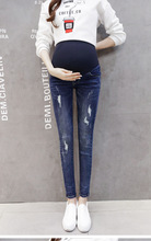 Maternity Jeans Pants For Pregnant Women Maternity Clothes Nursing Trousers Pregnancy Overalls Denim Long Prop Belly Legging