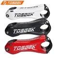 TOSEEK карбоновый руль Диаметр 31,8 мм 10 градусов 80/90/100/110 мм Дорожный велосипед Горный Запчасти 132 г