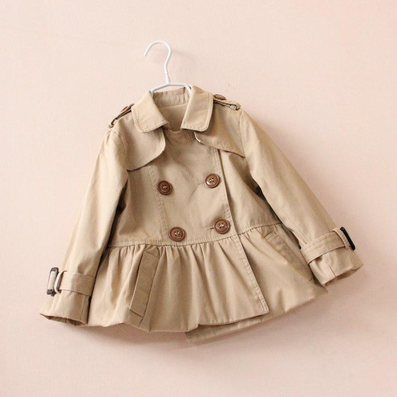 Online Shop 2015 Autumn spring girls trench coat jacket baby girl ...