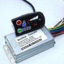 Бесщеточный контроллер двигателя Ebike790, 36 В, 48 В, 350 Вт, 18Amax, один комплект с 790LED дисплеем
