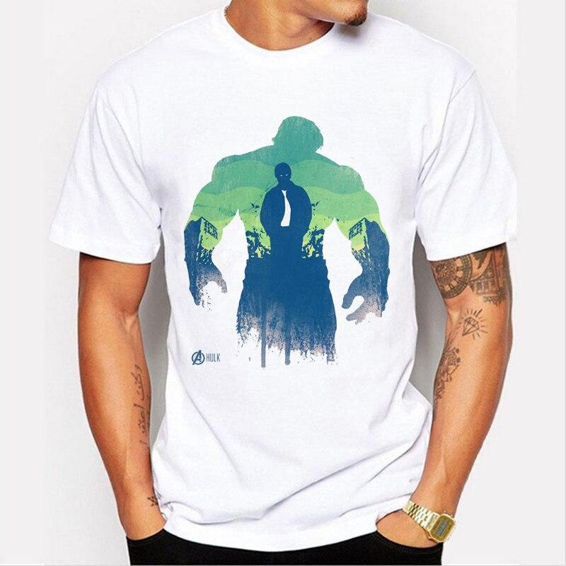 The Avengers Captain America/Hulk/Iron Man/Black Widow/Hawkeye/Thor Männer t-shirt Marke kleidung boy t 89-13 #