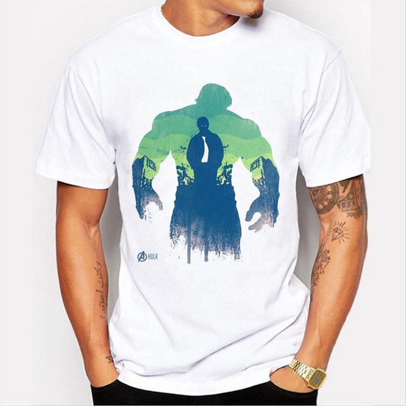 The Avengers Captain America /Hulk/Iron Man /Black Widow/Hawkeye/Thor Men T shirt Brand clothing boy tee 89-13#