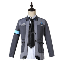 Detroit: Become Human Connor RK800 Coat Shirt Uniform Suit Outfit Cosplay Costumes