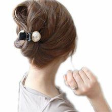 1 шт., модные женские и девичьи большие жемчужные Заколки невидимки для волос, когти и стразы, заколки для волос, заколки для волос, аксессуары для волос