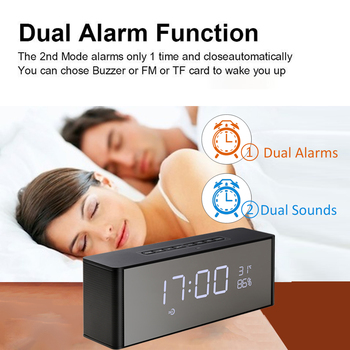 Abuzhen Bluetooth Speaker Receiver Super Bass Portable Enceinte Wireless Speaker for Phone Computer Support TF FM Alarm Clock 1