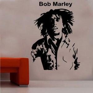 Image 1 - Marley Một Tình Yêu Miếng Dán Nhạc Reggae Bức Tranh Tường Vinyl Decal Dán Tường Có Thể Tháo Rời Poster Nhà Thiết Kế Nghệ Thuật Trang Trí 2YY1
