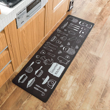 Cartoon PVC Gourment Kitchen Floor Mat Non-Slip Doormat Rug Cute Front Door Home Decorative Bathroom Carpet 45*75cm 45*150cm