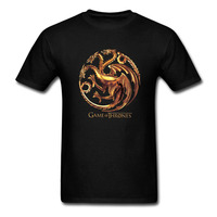 Game Of Thrones Targaryen Dragon T Shirt Men And Women Tv Tee Big Size S XXXL