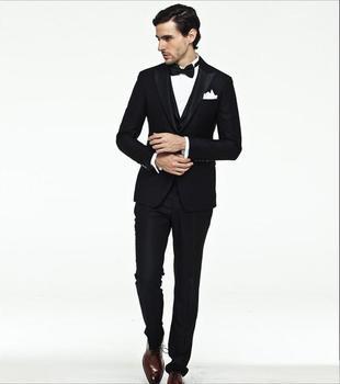 Tuxedo Styles Men Suits Slim Fit Suits Men Notch For Wedding Groomsmen Suits Custom Made Best Men Suits (Jacket+Pants+Vest)