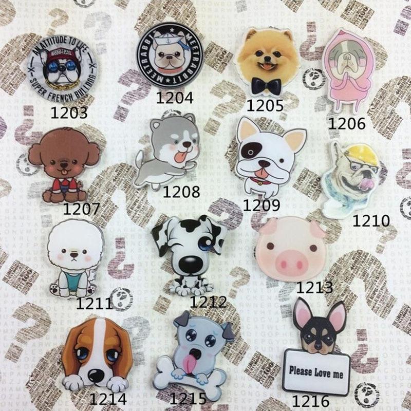 New Arrival HARAJUKU Badges Personalized Animal Dog Pig Pet Dog Brooches Fashion Accessories XZ200