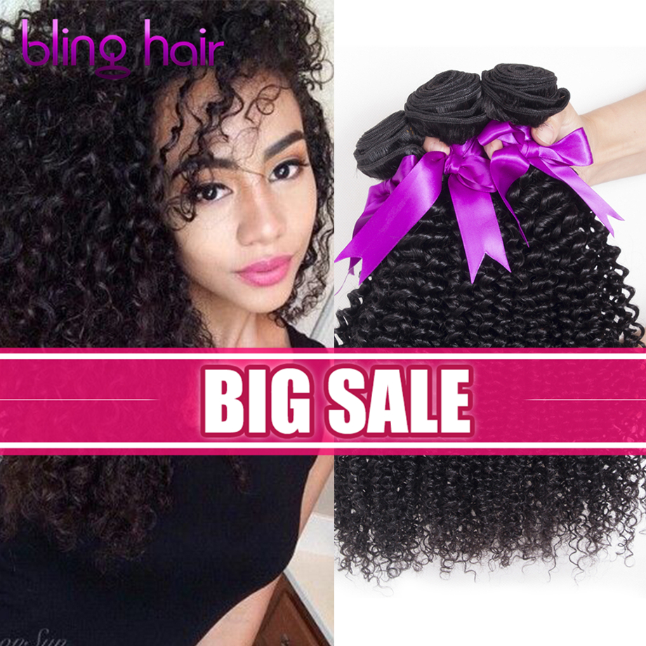 Hair Weft & Closure ( & Bang)  Hair Weft & Closure ( & Bang): Malaysian Virgin Hair With Closure 3 Bundle Deals Kinky Curly Weave Human Hair With Closure Malaysian Curly Hair With Closure