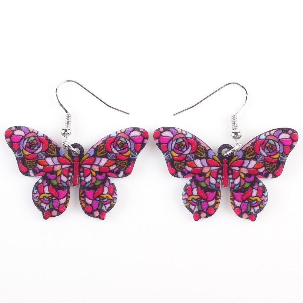 Newei Drop Butterfly Earrings Big Long Dangle Earrings Fashion ...