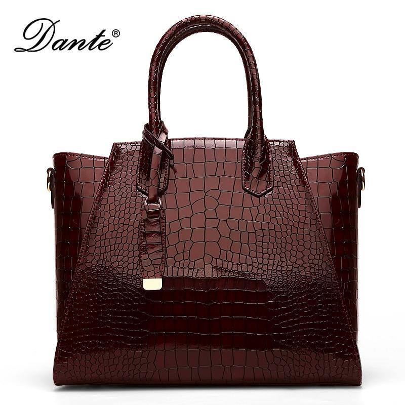 все цены на Dante fashion simple handbag shoulder Messenger big bag ladies bag new handbag wild 2017 for women онлайн