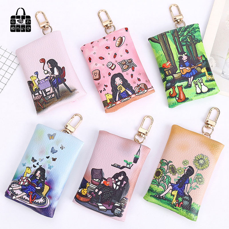 Rose Diary Cute Fashion girl High quality key bag pu leather zero wallet children purse, women Coin Purses Pouch Case bags