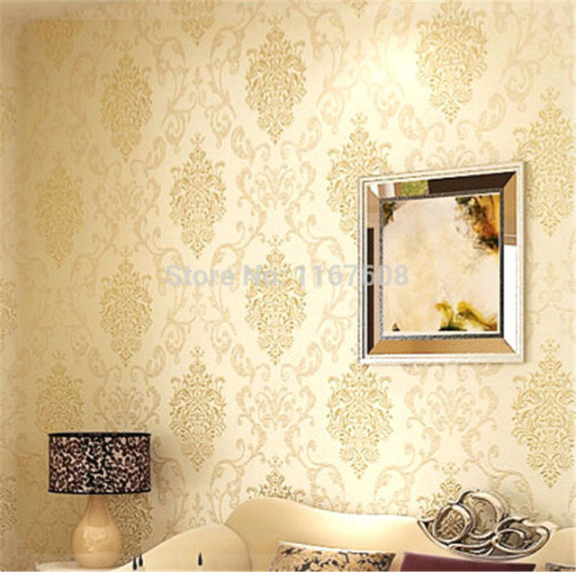 Pastoral Wallpaper Floral Wall Paper Roll 10m Europe Vintage Tapete ...