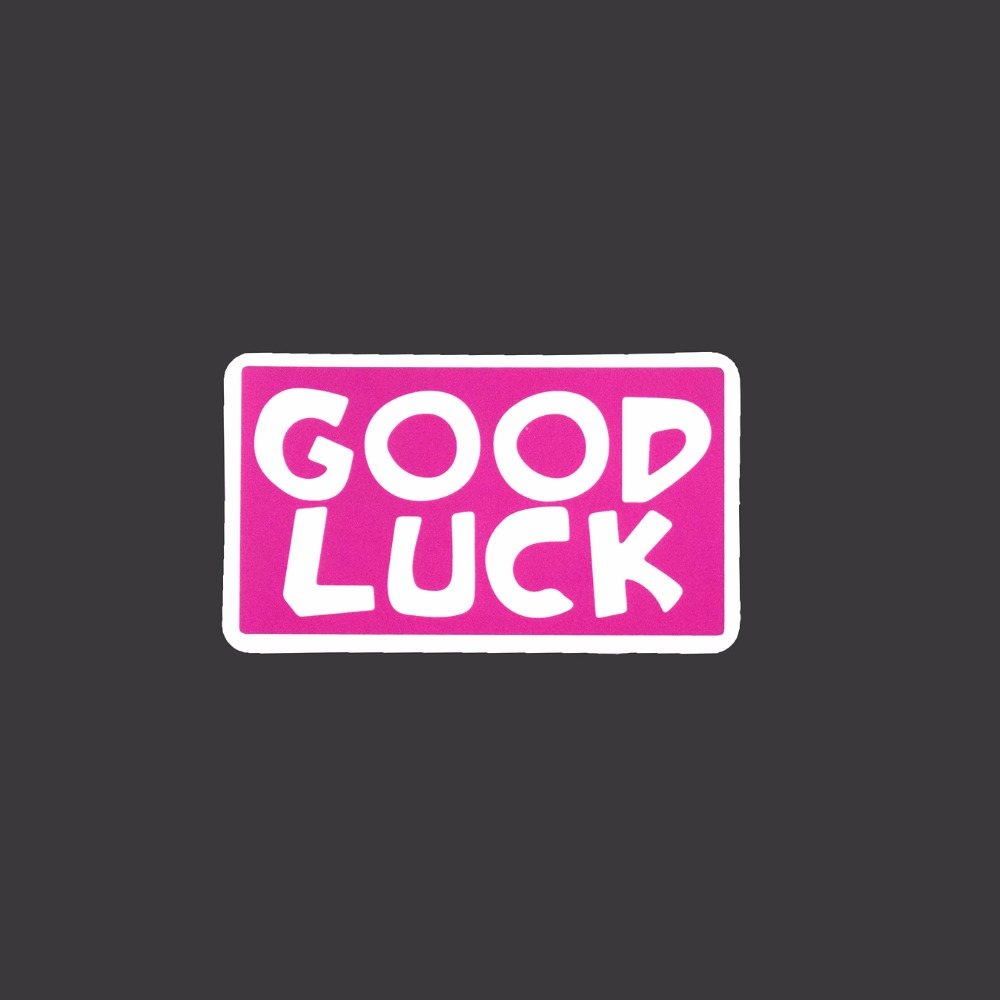 Good Luck Single Stickers Luggage Fridge Skateboard Waterproof Sticker Car Styling Funny Tied Brand Decals A137