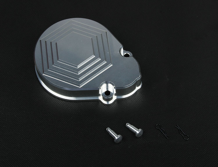 baja CNC metal gear cover new diamond Silver Orange 951221