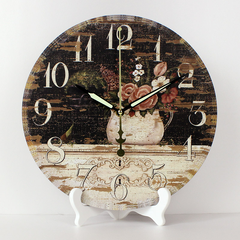 Wholesale 12'' Pastpral Style Bedroom Decor Table Watch