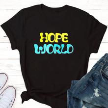Mam nadzieję że na całym świecie J-mam nadzieję że mixtape hixtape T-shirt Kpop T-shirt Jungkook Kpop gadżetach jungkook sugę kpop suga tanie tanio Octan NONE Topy Wafel Na co dzień Tees Cartoon Krótki REGULAR 112425 Kobiety O-neck