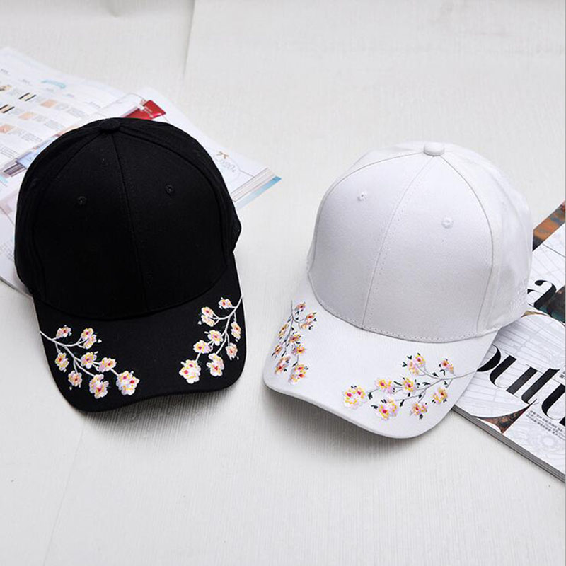 Cotton Baseball Hats for Women Plum Blossom Embroidery Flower Hip hop Casual Snapback Caps Gifts Print girls Snapback Cap Gorras rosicil skullies beanies winter hats for women letter beanies women hip hot caps skullies girls gorros women beanies female