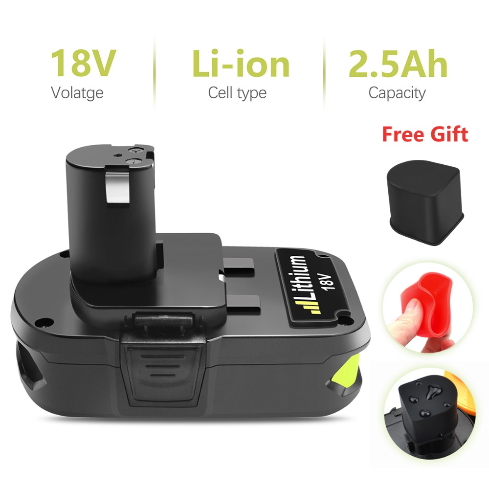 1X2500 mah 18 v P107 Rechargeable Li-ion Batterie: ryobi RB18L25 P100 P102 P103 P104 P105 P107 P108 L15