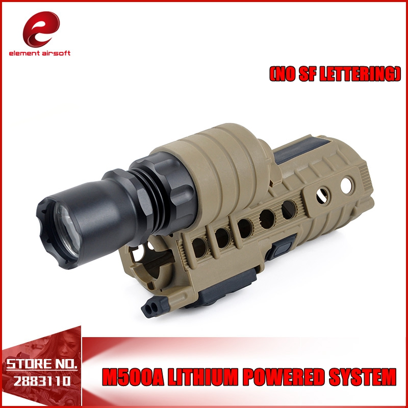 Element Airsoft M500A Tactical Weapon Light With M4 Handguard Lithium Powered System EX203