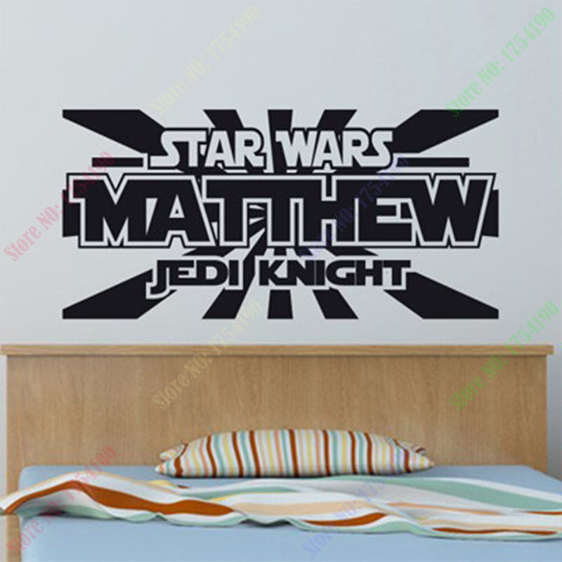 Hot Sale Star Wars Wall Decal Personalized Name Jedi Knight Vinyl Sticker  Boys Bedroom Decor Poster Wall Stickers Home Decor In Wall Stickers From  Home ...
